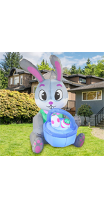 5 ft Tall Easter Bunny amp; Basket