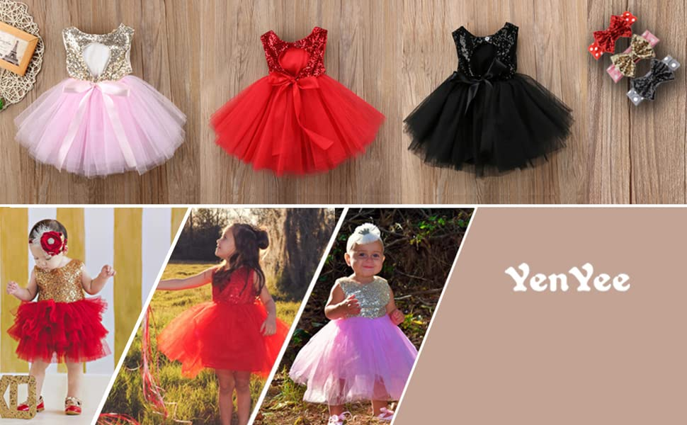 Toddler Infant Kids Baby Girls Princess Bowknot Pageant Party Tulle Tutu Dresses