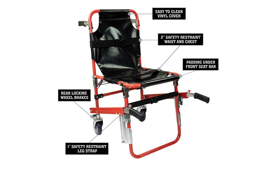 patient restraints supplies lifts chairs paramedic emergency wheels emt for seniors elderly light