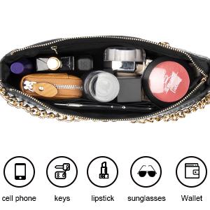 Shoulder Purse Handbag Wallet with Chain Decoration