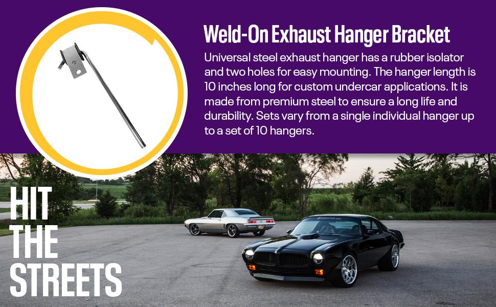 exhaust hanger custom system bracket