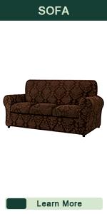 CHUN YI 3-Piece Separate Jacquard Cushion Sofa Slipcover