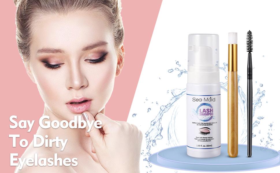 Eyelash extension shampoo professional