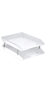 acrimet facility letter tray 2 tier front load white color