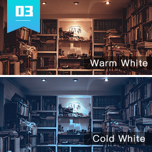 cct color temp temperature 2000K 6500K warm white light cool white cold light