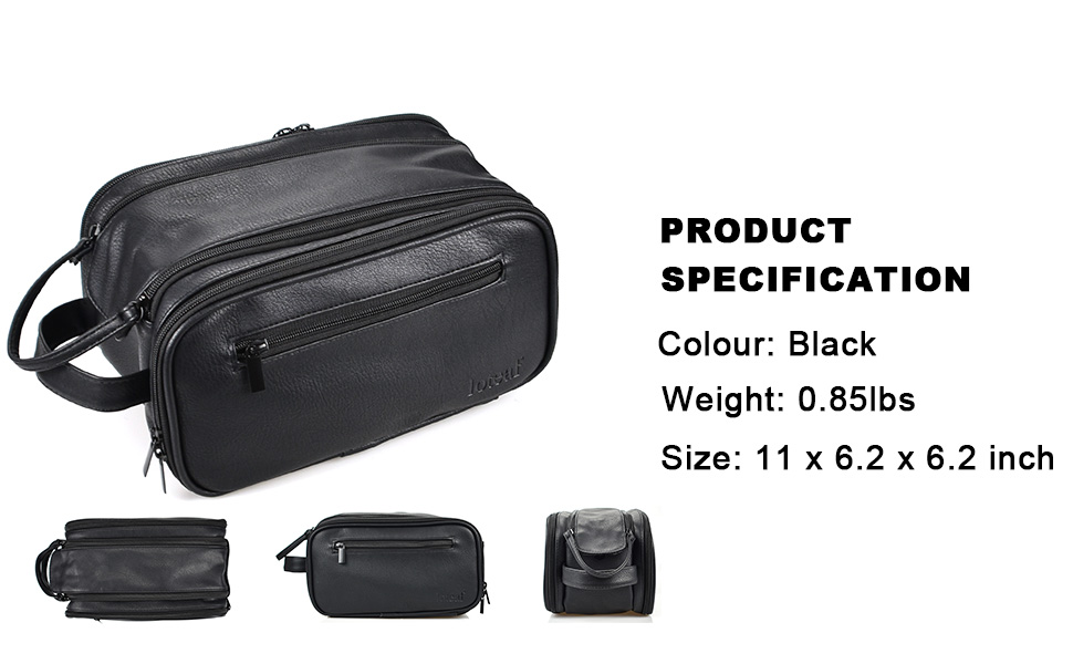 leather mens toiletry bag