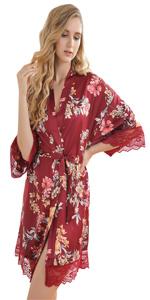Women's Kimono Robe Nightgown