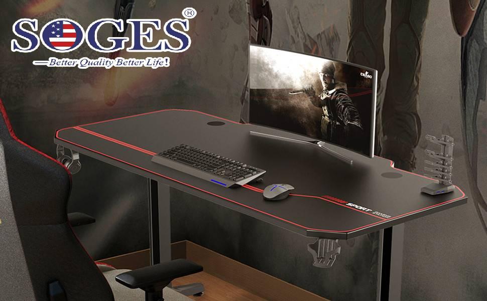 soges 140 * 65 Gaming Desk Computer Computer Computadora Gamer Pro ...
