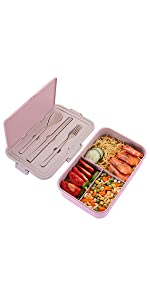 Bento Box with 3 Compartments