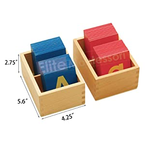 elite montessori lower and capital case sandpaper