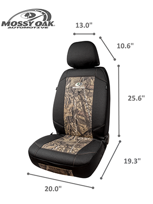 Mossy Oak Low Back Camo Seat Covers Made with Premium Cotton Twill Airbag Compatible Official Licensed Product Universial Fit Fit Most Bucket Seats