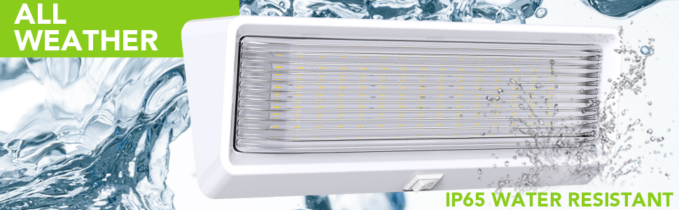 "Leisure LED XL Lumen RV Trailer Camper 5th Wheel 650 Bright Porch Exterior 12"" Inch Switch White"