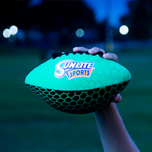 glowing football cool design coop grip surface kids teenager toy play