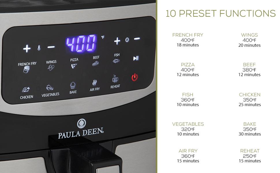 Paula Deen 10QT Digital Air Fryer