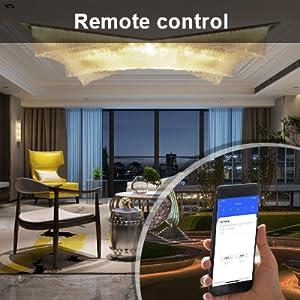 KETOTEK Smart WIFI lichtschakelaar Touch Alexa Google Home 1-voudig wandmontage glas wit WLAN app