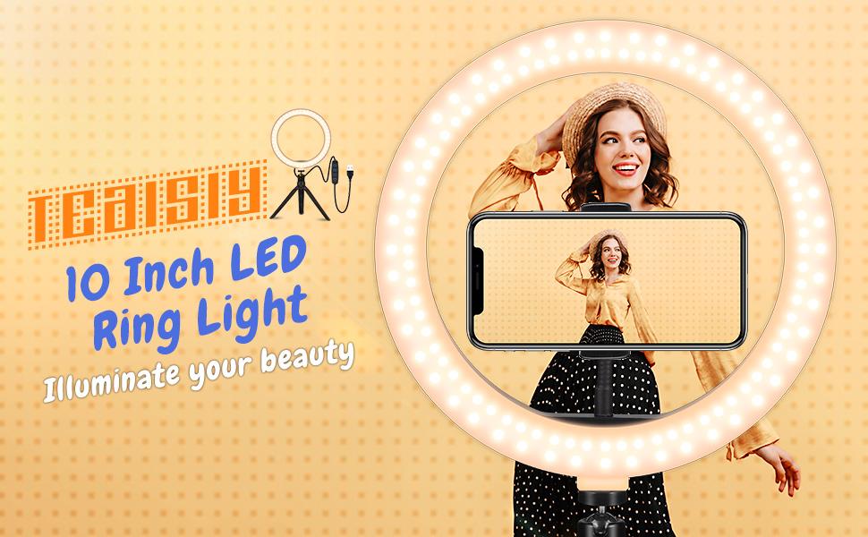 "10.2"" Desktop Selfie Ring Light"