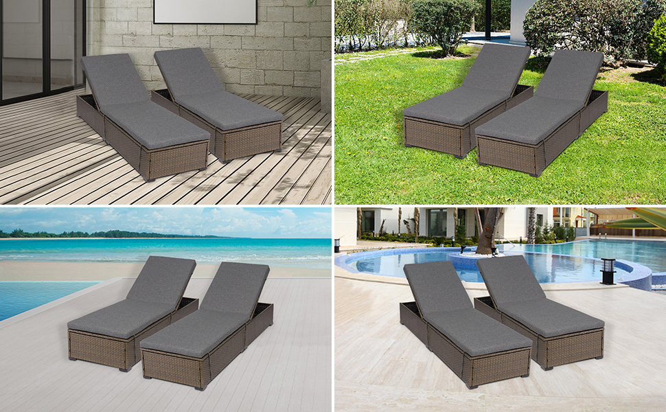 Outdoor PE Wicker Lounge Chair