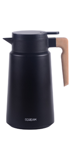 61 oz coffee carafe, carafe for ice drink, carafe for cold, keep hot,black coffee carafe