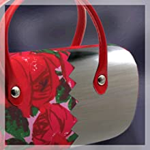 metal clam shell hard eyeglass case with handles girl glasses case women floral rachel rowberry