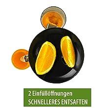 slow juicer sicher stand 2 einfüllöffnungen nutri-press black schwarz entsafter elektrisch obst