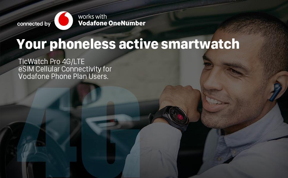 ticwatch pro 4g lte smartwatch Vodafone