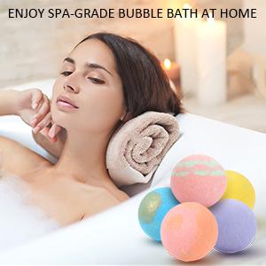 Bath Bombs Gift Set 8 pack, Large Size 3.8oz Organic Bubble Bath Bomb Gift Set