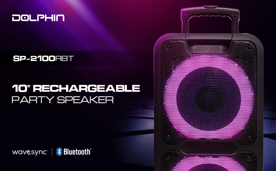 rechargeable batter, speakers, woofer, sound, wireless speaker, bluetooth
