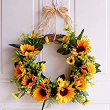 DIY Sunflower wreath