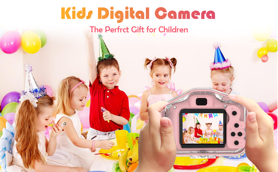 Kids Camera Waterproof Children Cameras of Age 3 4 5 6 7 8 9 Boy Girls Birthday Toy Gifts Pink