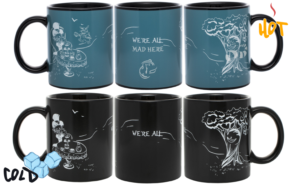 Alice in wonderland and Cheshire cat Color Changing Mug