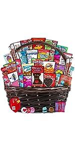 valentines day gift basket pack box chocolates candy love hearts boyfriend girlfriend college kid