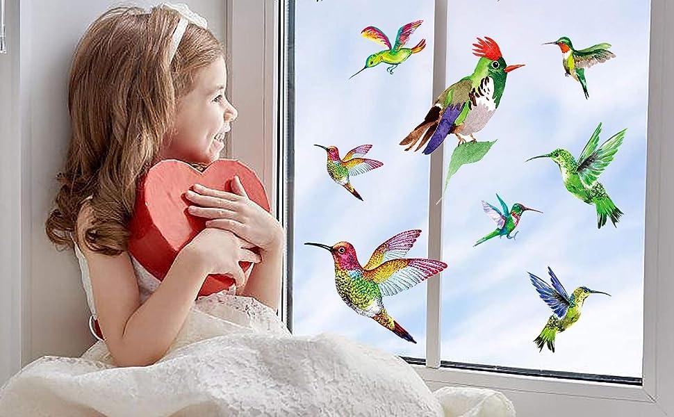 hummingbird window cling