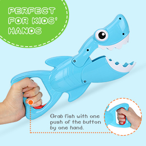 shark grabber bath toy fish set