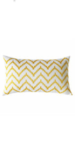 yellow lumbar throw pillows
