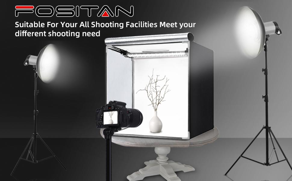 Fositan 40x40x40cm Fotostudio Dimmbare Bi Color Kamera