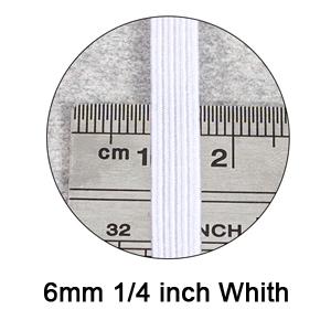 6mm elastic cord flat elastic band for sewing white elastic cord stretchy elastic cord braided
