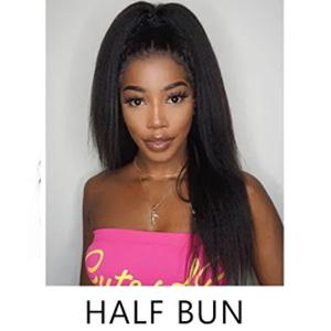 half bun u part wigs