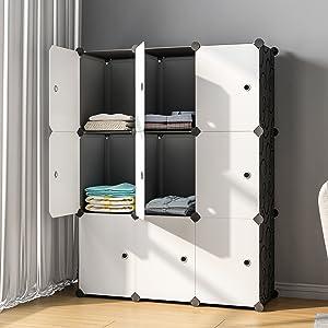 KOUSI Portable Storage Shelf Cube Shelving Bookcase Bookshelf