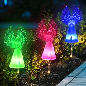 yard art lights solar landscape patio pathway decorations outdoor backyard lights solar powered