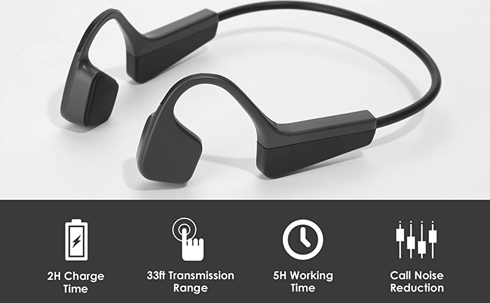 Wireless Bone Conduction Headphones Bluetooth 5.0