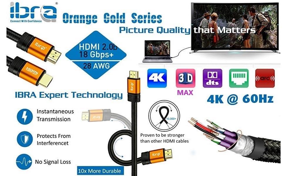Orange Hdmi Cable Variation 5m Elektronik