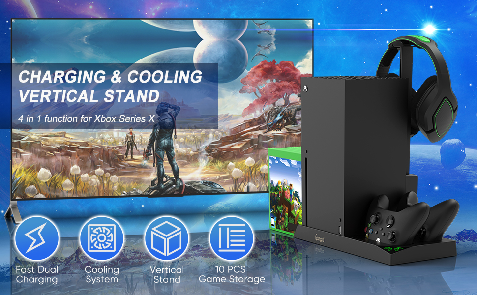 Vertical Cooling Stand for Xbox Series X Console