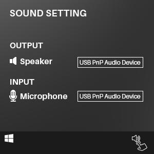 Sound Setting USB AUDIO