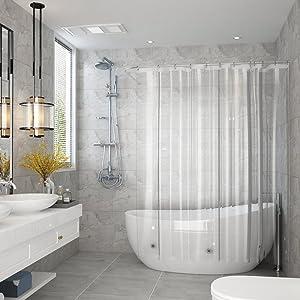 90 180cm 90ⅹ 180 シャワーカーテン 透明 バスカーテン ユニットバス 浴室 バス用品