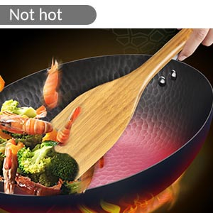 bamboo cooking utensils set with holder not burn your palms