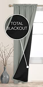 grey blackout curtains double layer total blackout 100 bedroom living room curtains