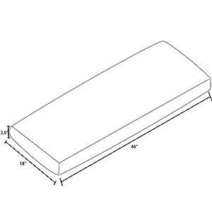 ProFoam Outdoor Bench Cushion Dimensions