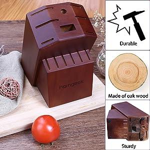 oak knfie block