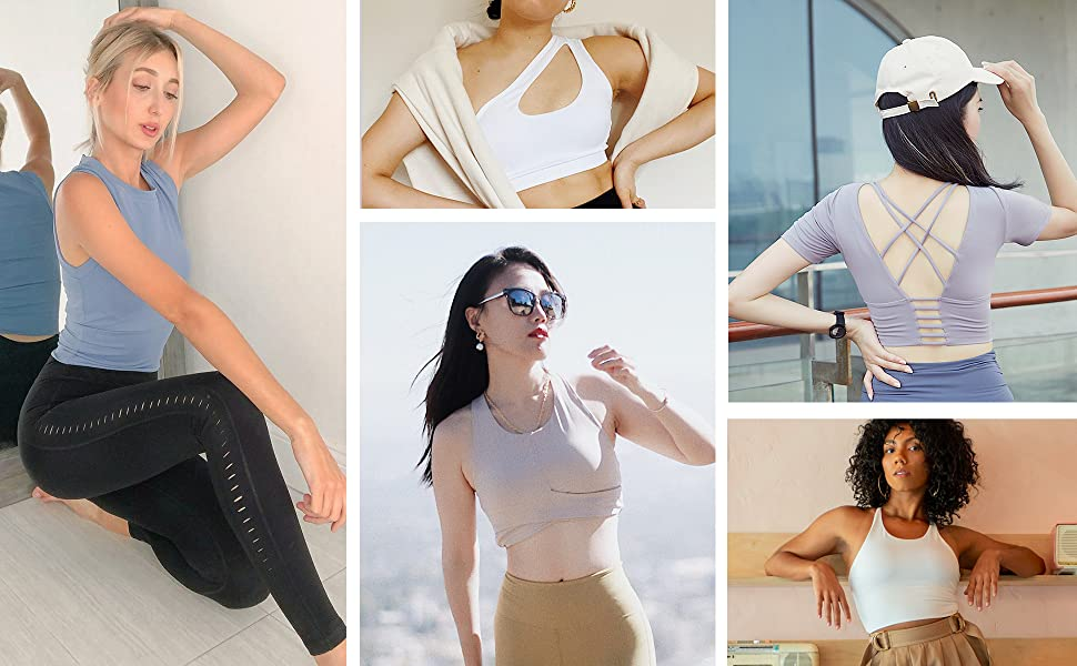 women shirts clothes top clothing tank workout athletic cool yoga sports spandex