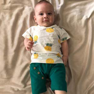 HZXVic Toddler Baby Boy Girl Summer Clothes Infant Pineapple Shirt /& Shorts Outfits